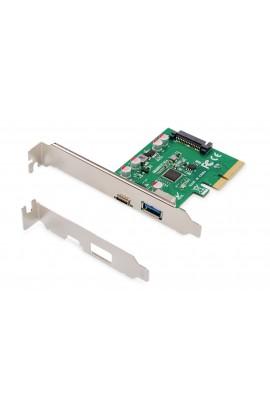 Tarj. PCIe 1 Pto USB3.1 Tipo C,1 pto 3.0 tipo A Gen2 DIGITUS