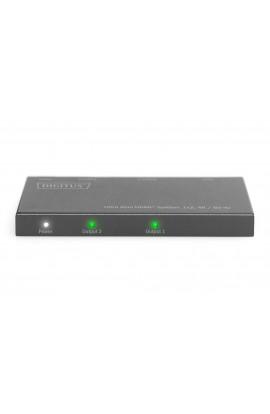 Splitter HDMI 1 /2  DIGITUS SLIM 4K HDR/HDCP 2.2 4096x2160p