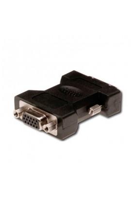 Adaptador DVI-A(12+5) Macho a VGA HPDB15 Hembra Compacto
