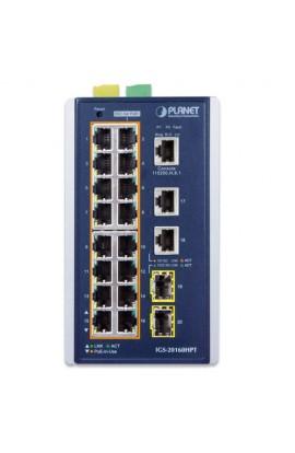 Switch Industrial 16Ptos Gig+4-Ptos. SFP Managed L2 PoE+