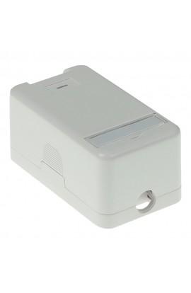 Caja Superficie 1 x RJ45 keystone plástica color gris