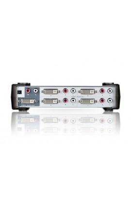 Conmutador DVI-I+audio ATEN 4 IN a 1 OUT