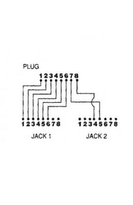 Adaptador de Red Divisor1Pto datos+1telef./fax MTWA03