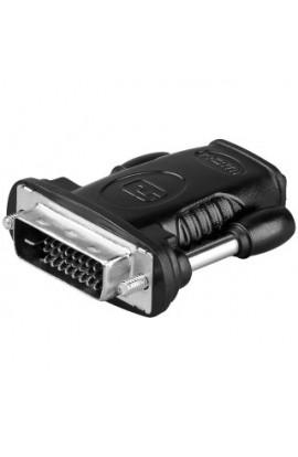 Adaptador HDMI tipo A Hembra a DVI-D24+1 Macho Compacto