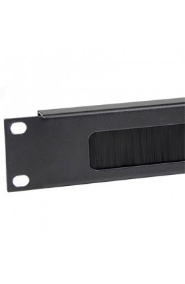 "Panel guía cables c/ cepillo c/ peine para Rack 19"" Negro"