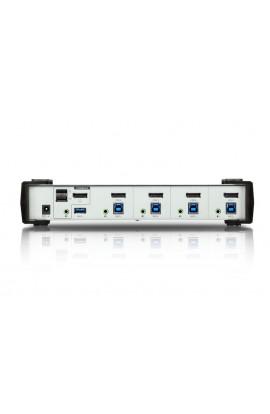 Conmutador KVM 4PCs-1Pto DisplayPort1.2+USB3.0+audio