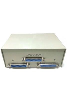 Conmutador manual 2/1 DB25 Hembra