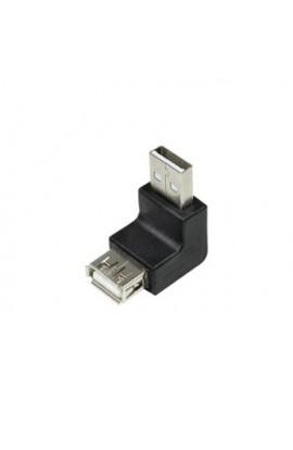 Adaptador USB ANGULADO tipo A Macho a A Hembra compacto