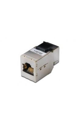 Empalmador RJ45 Cat.6A FTP Hembra/Hembra panelable