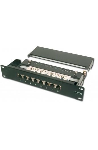 """Patch Panel RJ45 Cat.6 FTP 10"""" 8Ptos. RJ45 H Color Negro"""
