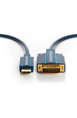 Cable HDMI tipo A M a DVI-D(24+1) M CLICKTRONIC HQ 20,0mts
