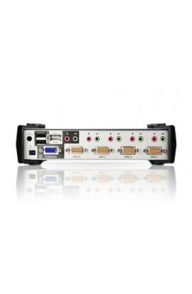 Conmutador KVM autoswitch 4PCs a 1Psto trabajo USB