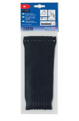 Velkro bridas sujeción de cables de 12,5x200mm 10und. Negras