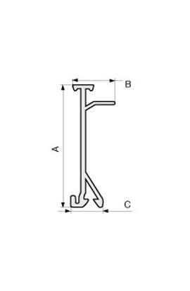Separador para canaleta IBOCO 100x40mm  tramos 2mts