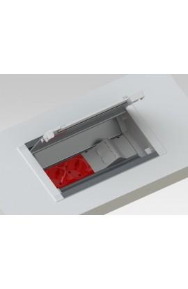 Caja empotrar en mesa MMDatalectric Easyblock 4xhuec. 45x45