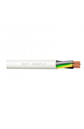Cable eléctrico H05VV-F 3x1.5 mm2 bobina 50 metros blanco