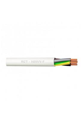 Cable eléctrico H05VV-F 3x1.5 mm2 bobina 100 metros blanco