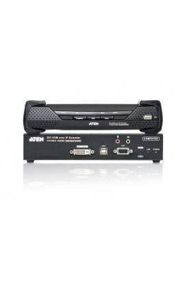 Amplificador Extensor KVM Aten DVI-D+USB+Audio RJ45 T+R