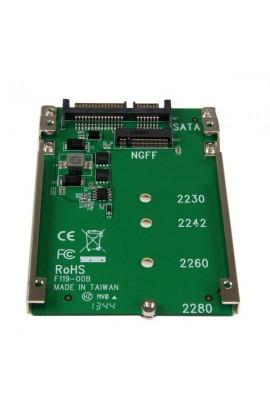 """Adaptador SSD NGFF M.2 a SATA de 2.5"""" 22 pines(15+7pin)"""