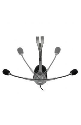 Auriculares con micrófono Logitech H110 color negro