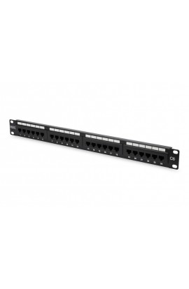 Patch Panel RJ45 Cat.6 UTP 24Ptos. RJ45 H color Negro