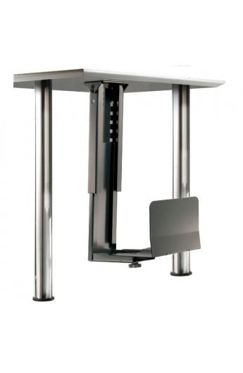 Soporte CPU metalico bajo mesa color negro