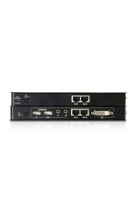 Extensor KVM Aten p/2 Mon.DVI-D+USB+Audio+RS232 60mts T+R