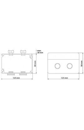 Caja Superficie exterior IP67 DATWYLER p/2xRJ45 Keystone