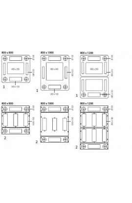 Rack Network DATWYLER DNRP Premium 27U 800x800mm IP40 Gris
