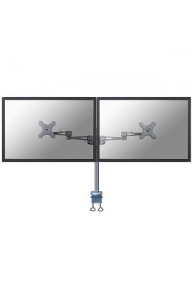 """Soporte Monitor/TV DOBLE Mesa con brazo NEWSTAR 27"""" negro"""
