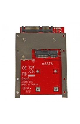 "Adaptador SSD mSATA a SATA de 2.5"" 22 pines(15+7pin)"