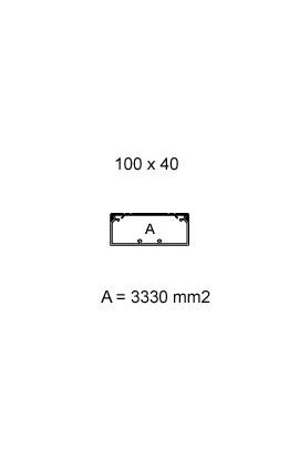 Canaleta IBOCO 100x60mm c/SEPARADOR(no incl.) tramos 2mts