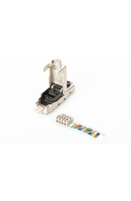 Conector RJ45 Macho Cat.6A FTP PoE+ tool less