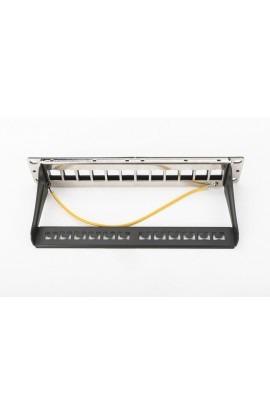 """Panel vacío 10"""" con 12 puertos RJ45 para conectores Keystone"""