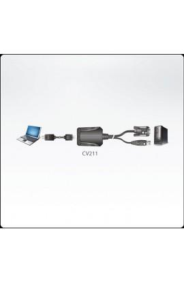 Adaptador de consola KVM para portátil VGA+USB