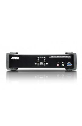 Conmutador KVM 2PCs-1Pto DisplayPort1.2+USB3.0+audio 4K