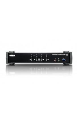 Conmutador KVM 4PCs-1Pto DisplayPort1.2+USB3.0+audio 4K