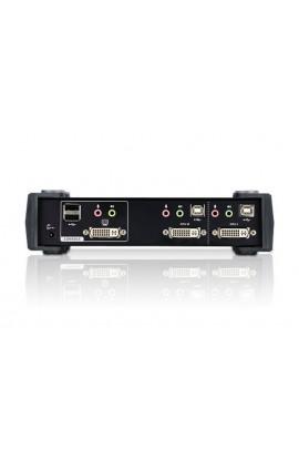 Conmutador KVM autoswitch 2PCs-1Psto USB+DVI+audio cables In
