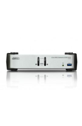 Conmutador KVM 2PCs-1Pto DisplayPort1.2+USB3.0+audio