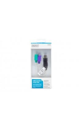 Convertidor USB a 2x PS/2 miniDIN 6H 0.15mts