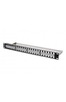 """Panel vacío 19"""" HD 48 puertos RJ45 para conectores Keystone"""