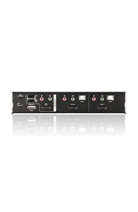 Conmutador KVM Aten 2PCs a 1Psto trabajo USB+HDMI+audio