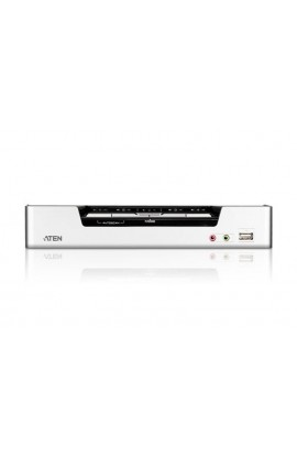 Conmutador KVM Aten 4PCs a 1Psto trabajo USB+HDMI+audio