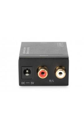 Convertidor Audio Digital 1xCoaxial+SPDIF IN a 2xRCA OUT