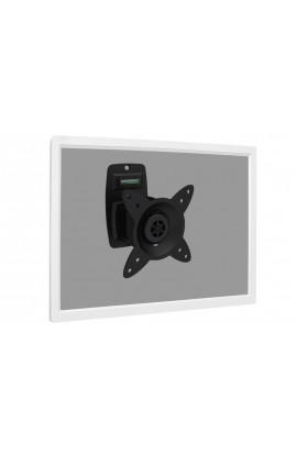 "Soporte Monitor/TV a pared inclinable y rotatorio 27"" negro"