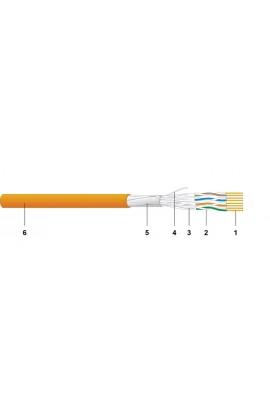 Cable RJ45 Cat.6A F/FTP FRNC/LSOH CU6552 EUclass D 500mt