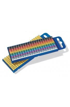 Identificadores Numeric cables de 4-6mm Kit de 10x10 colores