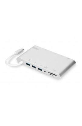 Docking Station USB-C 11 Ports + lector tarjetas aluminio