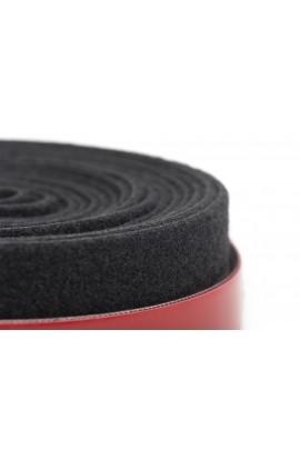 Velkro doble cara sujeción de cables 25mm negro rollo 10mts