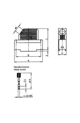 Carcasa para conectores DB15 Angulad plástica tornillo largo